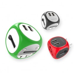 Cadyce Universal Travel Adapter with Dual USB ports CA-UTA Green