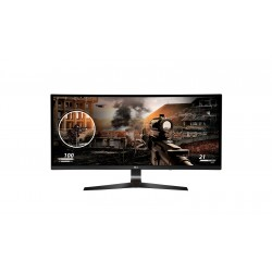 "LG 34"" Ultra-wide Curve Gaming Monitor 34UC79G IPS Panel FHD 2560*1080 1ms 144 Hz Free-sync With HDMi DP USB Ports"