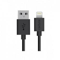 Cadyce USB Lightning cable for iPod, iPhone & iPad (BLACK) (1M) CA-ULC1B