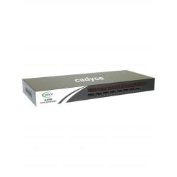 Cadyce 16 Port Rackmount USB KVM Switch with rack mount kit (High VGA resolution 1920 x 1440) CA-UK1600