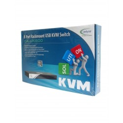 Cadyce 8 Port Rackmount USB KVM Switch with rack mount kit (High VGA resolution 2048 x 1536) CA-UK800