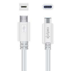 Cadyce USB-C to Micro USB 3.0 Male Cable (Speed 480MBPS / Power 3A / Length 1M) CA-CMICRO